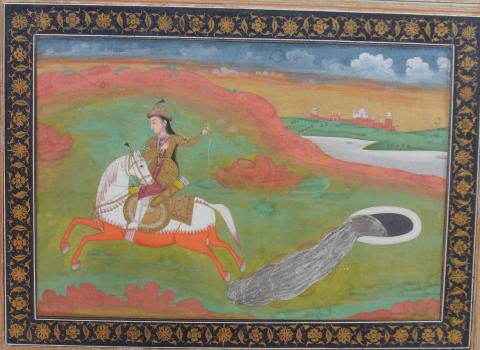 An equestrienne lures mercury out of its well © Trustees of the Maharaja Sawai Man Singh II Museum, Jaipur